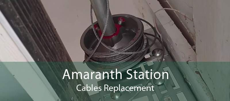 Amaranth Station Cables Replacement