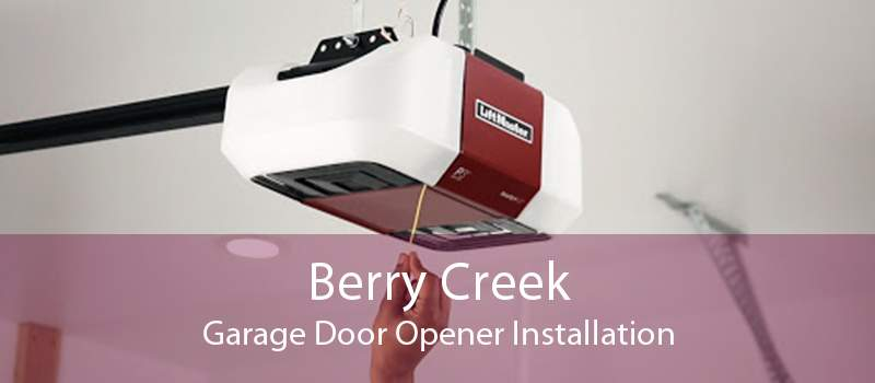 Berry Creek Garage Door Opener Installation